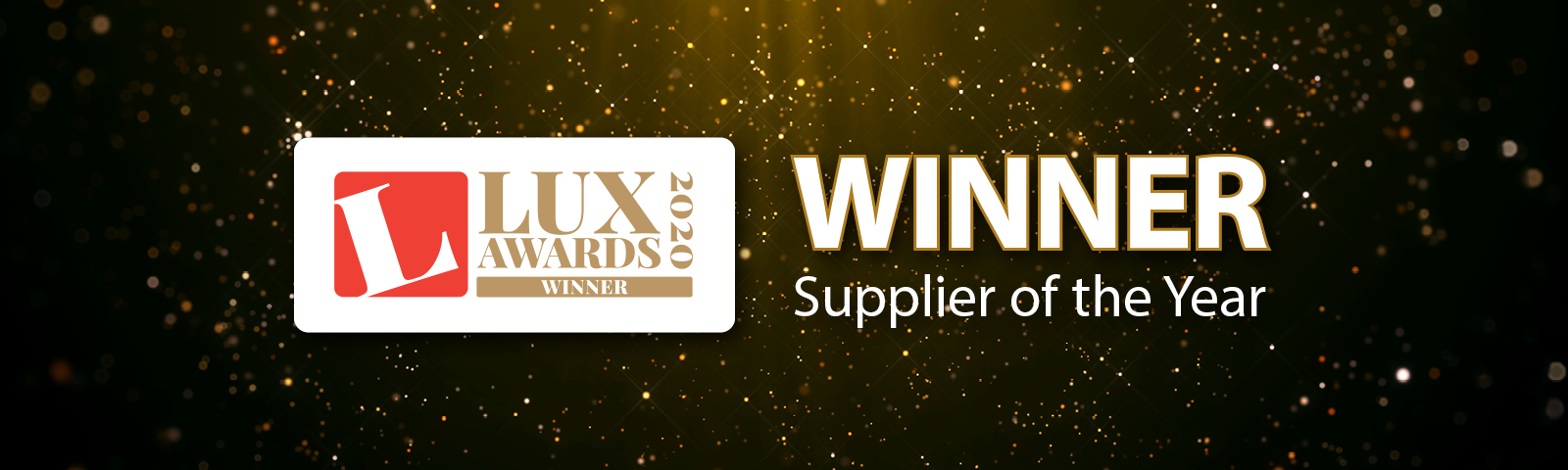 Thorlux celebrates winning Supplier of the Year at the Lux Awards 2020